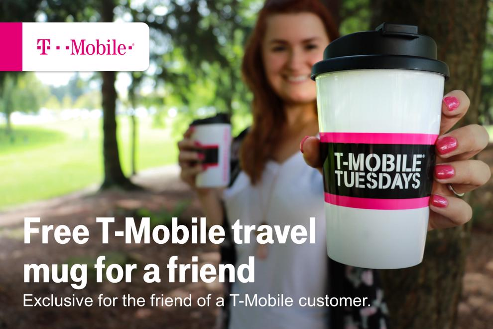Free T-Mobile travel mug for a friend