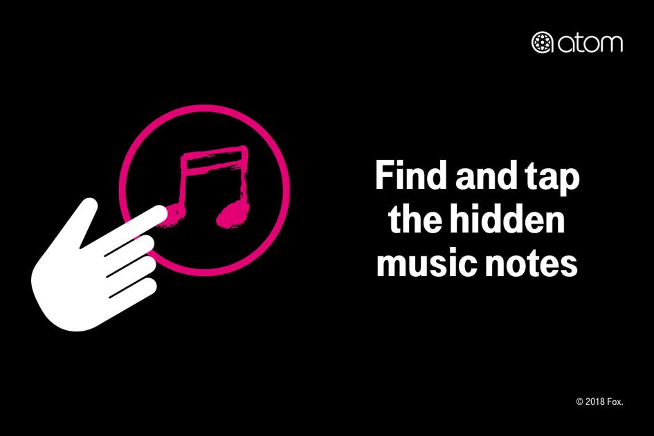 Find and tap the hidden music notes