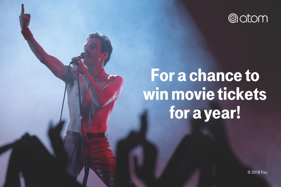 for a chance to win movie tickets for a year