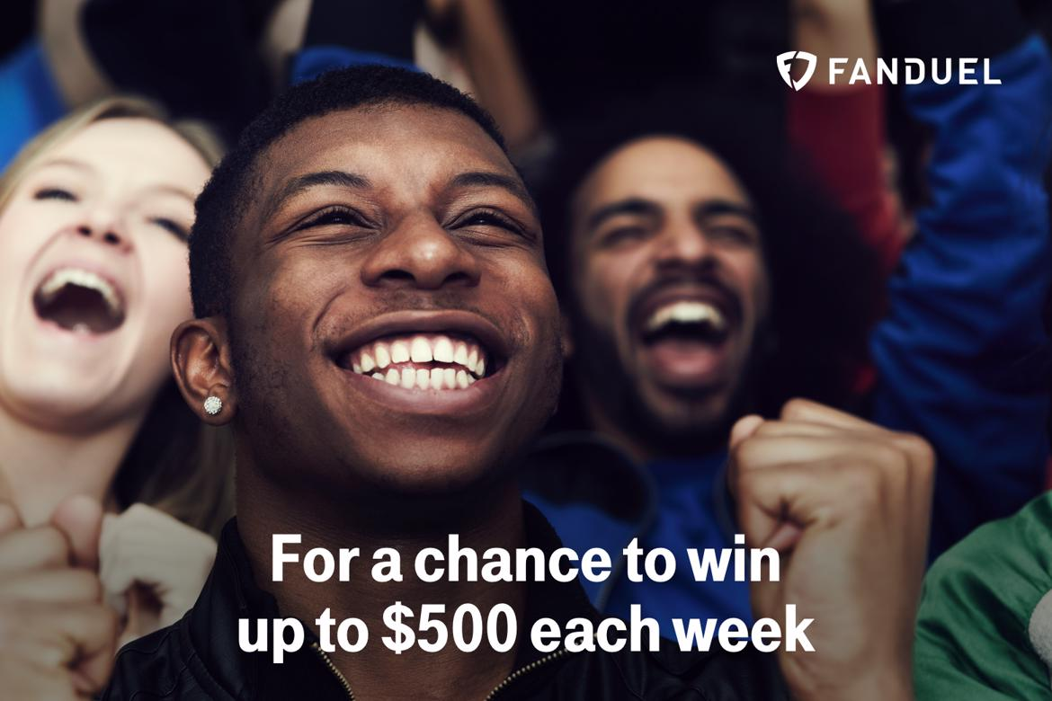 FanDuel. For a chance to win up to $500