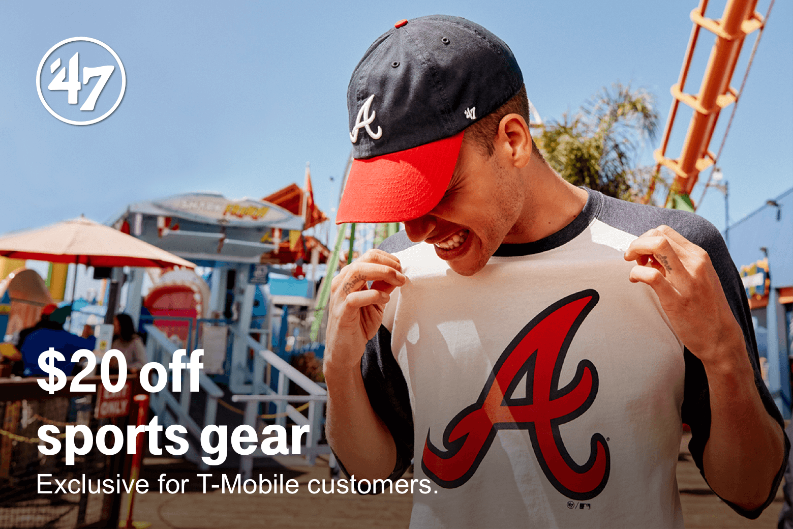 47Brand. $20 off sports gear. Exclusive for T-Mobile customers.