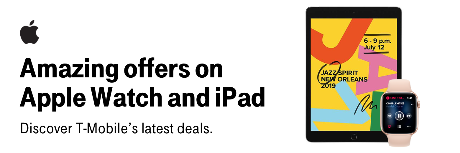 Amazing offers on Apple Watch and iPad. Discover T-Mobile's latest deals.