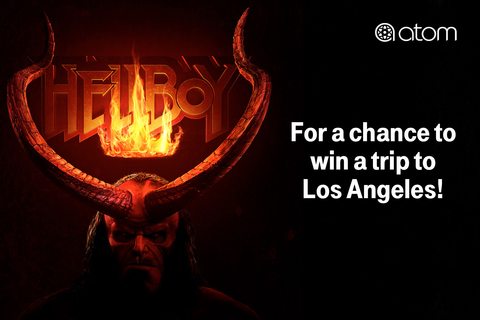 Atom. For a chance to win a trip to Los Angeles!