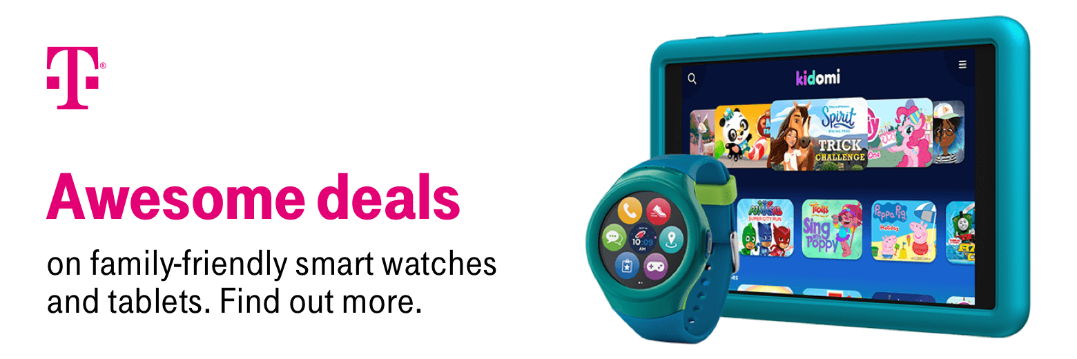 T-Mobile. Awesome deals on family-friendly smart watches and tablets. find out more.